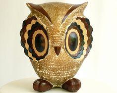 Large Vintage Ceramic Owl  Funky 70s Mod Home by ModLoungeVintage, $26.00