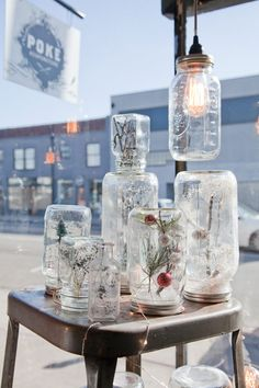 """How to make Mason Jar Snow Globes ~ These mason jar """"Faux Globes"""" may just be the simplest craft project ever: you can really do no wrong, so experiment to your heart's content."""