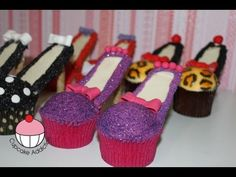 Video Detail for Stiletto Cupcakes! Decorate High Heel Shoe Cupcakes - A Cupcake . High Heel Cupcakes, Stiletto Cupcakes, Cupcake Cakes, Cup Cakes, Pink Cakes, Cake Pops, Cupcake Youtube, Camo Wedding Cakes, Brownie Cookies