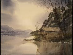 ▶ Watercolour painting tutorial of a boathouse on Ullswater - YouTube
