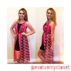 We can't get enough of this sheer printed dress! The slit in the front only adds to this already unique piece! Call 2105495001 to reserve your size, or comment below! #evolvemycloset #evolveboutique #ootd #newarrival #fallfashion