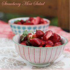 Strawberry Mint Salad