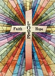 Quilt Inspiration: Faith, Hope and Love quilt - stained glass quilted church banners Stained Glass Quilt, Stained Glass Patterns, Cross Patterns, Quilt Patterns Free, Quilting Projects, Quilting Designs, Quilt Design, Stain Glass Cross, Applique