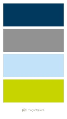 Navy, Classic Gray, Sky, and Chartreuse Wedding Color Palette - custom color palette created at MagnetStreet.com