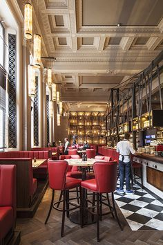 Burger & Lobster, Threadneedle Street, London restaurant interior design by DesignLSM. Photography (c) James French Photography
