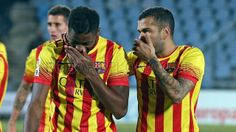 Getafe 2-5 FC Barcelona | Alex Song & Dani Alves | FOTO: MIGUEL RUIZ - FCB Fc Barcelona, Dani Alves, Songs, Photo Galleries, Faces, Song Books