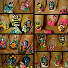 Fancy Nails Designs, French Tip Nail Designs, Fingernail Designs, French Tip Nails, Nail Art Designs, Butterfly Nail, Pedicure Nail Art, Types Of Nails, Stylish Nails