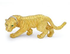 A Diamond and Gold Tiger Brooch, Tiffany & Co. « Dupuis Fine Jewellery Auctioneers
