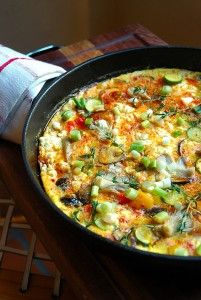 Fritata with Exotic Mushrooms - My Easy Cooking