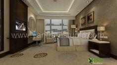 3D Classic #Interior #Design #Rendering for Hotel Bedroom.  http://www.yantramstudio.com/3d-interior-rendering-cgi-animation.html