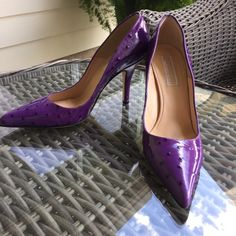 "💼HP💼 Michael Kors Purple Ostrich Pumps 3xHP Gorgeous Michael Kors Purple Paton Ostrich Pumps. Brand new without box. 4"" heel.  Office Style HP chosen by 💕@the4lusters  6/13. Check out her Beautiful closet!💕💕😘💕   💄HP💄 Chosen 8/13 by 🌺Jennifer🌺 @jenbcloset Vacation Vibes Party🎉 Check out Jennifer's 🎀Beautiful🎀 closet! Michael Kors Shoes Heels"