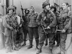 British paratrooper Captain John Killick Capt John Killick, far right of the Field Security Section with German prisoners on the streets of Arnhem September 1944 Author Sam Presser. British Armed Forces, British Soldier, British Army, Military Photos, Military History, Commonwealth, Malayan Emergency, War Photography, September