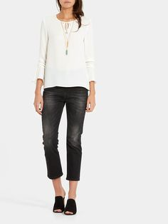 Flare Top Offwhitewit - Costes Fashion