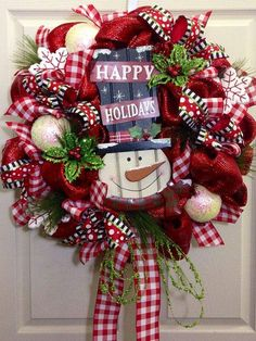 artificial christmas wreaths mesh wreaths red white color snowman christmas toys