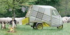 A three-wheeler compact camper