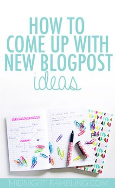 How to Come Up with New Blog Post Ideas | Need some blog post inspiration? Look no further! This guide is perfect for bloggers with writer's block!