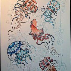 tattoo sketch | Tumblr  méduses doodles,  Go To www.likegossip.com to get more Gossip News!