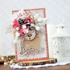 Handmade by Aleksa Kras: Новогодние крафтовые открытки
