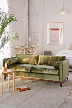 Urban Outfitters Piper Petite Velvet Sofa