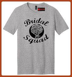 Comical Shirt Men's Bridal Squad Flowers Heather Grey L - Wedding shirts (*Partner-Link)