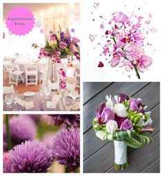 Radiant Orchid works beautifully for wedding flowers and table settings, perfect when combined with a colour palette of purple and pink flowers.