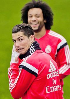 Marcelo & Ronaldo at training