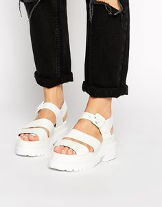 Image 1 ofTruffle Collection Ocean Chunky Strap Flat Sandals