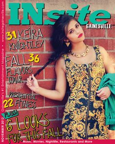 Check out our November issue of INsite! Cover photo by Sujie Wu. #gainesville #florida #magazine #insite #cover