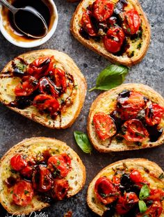 Tomato Caprese Garlic Breads