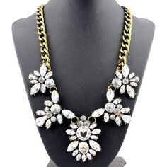 "Wild Flower Statement Necklace Stunning Wild Flower Statement Necklace  Length: 21""  Materials: Base Metals, Rhinestones  Nickel Free, Lead Free  Condition: New Jewelry Necklaces"