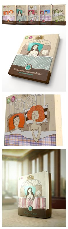Упаковка постельного белья De Nastia, Package © PUNK YOU BRANDS clever sheet #packaging PD