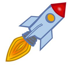 Clipart - rocket - coloured