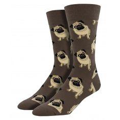 Purple Leopard Boutique - Socksmith Men's Socks Pug Puppy Dogs Brown Novelty Crew Sock, $15.00 (http://www.purpleleopardboutique.com/socksmith-mens-socks-pug-puppy-dogs-brown-novelty-crew-sock/)