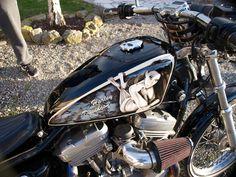 Harley sportster pin up dentelle
