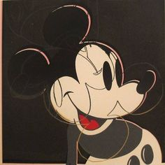 Andy Warhol Myths: Mickey Mouse, 1981 unique screenprint on Lenox Museum Board 38 x 38