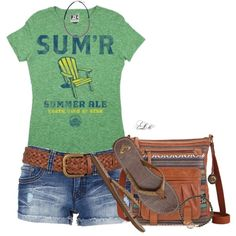 """""""Sum'r Ale Tee"""" by tmlstyle on Polyvore"""