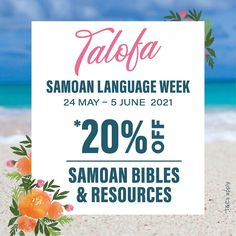GET *20% OFF SAMOAN BIBLES & RESOURCES We are excited to share a range of Samoan products available at Manna just for you. These resources are perfect for your library, for teachers, or for your school - let's help keep Gagana Sāmoa thriving! T&Cs apply. Shop now online or in-store. . . #talofa #samoa #samoanlanguageweek2021 #discount #bibles #bibleresources #culture #thrive #feedyourfaith #ReadHisWord #mannachristianstores #mannanz #biblesocietynz Bible Resources, Just For You, Let It Be, Letter Board, Promotion, Language, How To Apply, Range, Culture