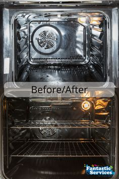 Oven cleaning by Fantastic Cleaners - before and after :)