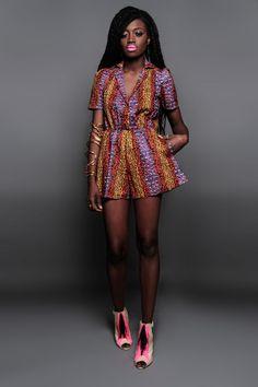 NEW The Tierra Romper 100 Holland Wax Cotton by DemestiksNewYork. #Africanfashion #AfricanClothing #Africanprints #Ethnicprints #Africangirls #africanTradition #BeautifulAfricanGirls #AfricanStyle #AfricanBeads #Gele #Kente #Ankara #Nigerianfashion #Ghanaianfashion #Kenyanfashion #Burundifashion #senegalesefashion #Swahilifashion DK