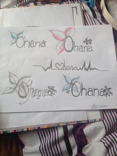 'OHANA' tattoo designs 'OHANA means family'