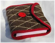 Refillable quilted journal cover