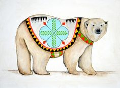 Lisa Congdon | Polar Bear    Link to website with lots of posters and art.