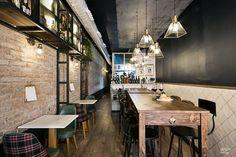 Nuevo #RestauranteDröm en Barcelona! Bodega con toques vintage! #interiorismorestaurantes #diseñointerior