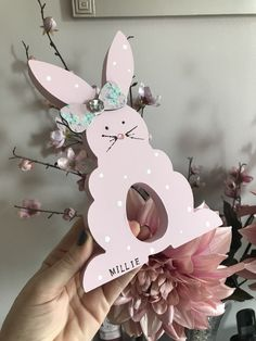 Personalised Easter Bunny Egg holder by Epiphany Designs NI
