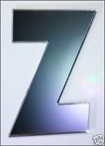 Letter-Z-Shatterproof-Mirrors-45cm-Letters-Alphabet-Safety-Acrylic