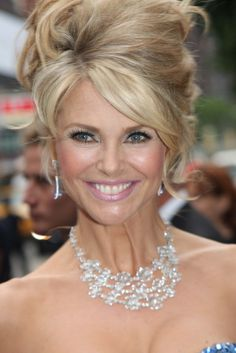 Christie Brinkley evening hair                                                                                                                                                                                 More