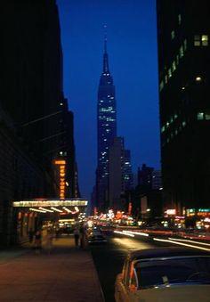 "Saatchi Art Artist Candida Slater; Photography, ""New York City Lights by Night 1958."" #art"