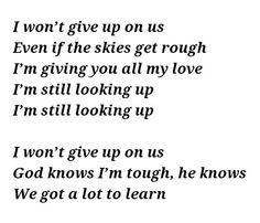 I wont give up on us