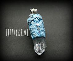 Fantasy Quartz & Polymer Clay Pendant Tutorial | Velvetorium | Полимерна...
