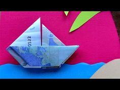 Geldschein falten: Boot zum Geldgeschenke basteln zur Hochzeit - Geld falten - YouTube